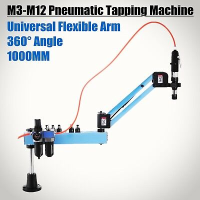 NEW Universal M3-M12 Flexible Arm Pneumatic Air Tapping Machine 360° Angle