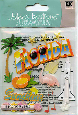 "Jolee's Boutique ""FLORIDA"" Dimensional Scrapbooking Stickers -S27"