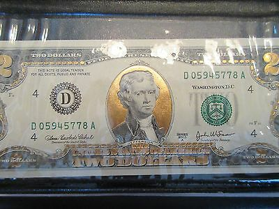 Lot #6A, 2003A UNCIRCULATED $2, WORLD RESERVE MONETARY EXCHANGE