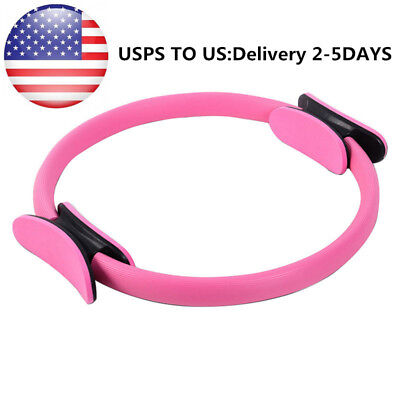 USPS Fitness Exerciser 15 inch Pilates Ring Dual Yoga Circle Body Build Trainer