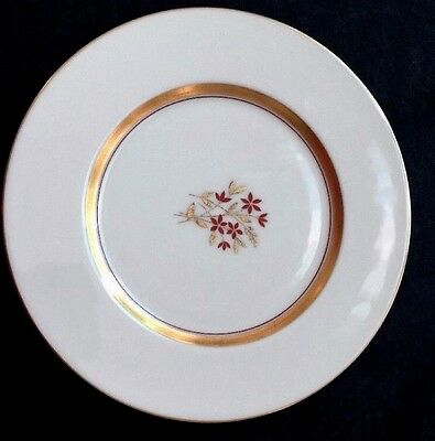 "LENOX china NYDIA Gold Band Floral Dish Plate (s) ~ P419W ~ 8 1/4""  Lunch Plate"