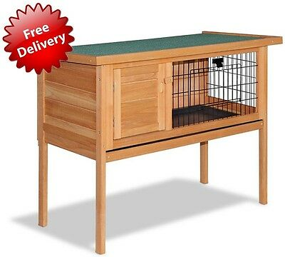 Raised Rabbit Hutch Guinea Pig Cage House Single Storey Raised Floor