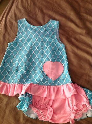 Infant Girls Size 24 Months Boutique Outfit Swing Top New Spring Summer Beach