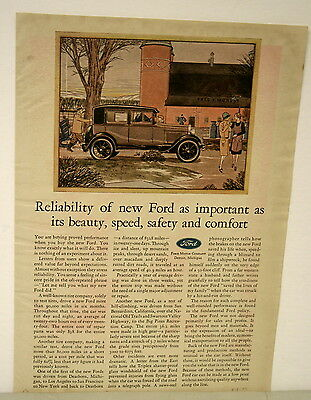 March 1, 1929 Ford Ad from Farm & Fireside Magazine-Reliability of a new Ford