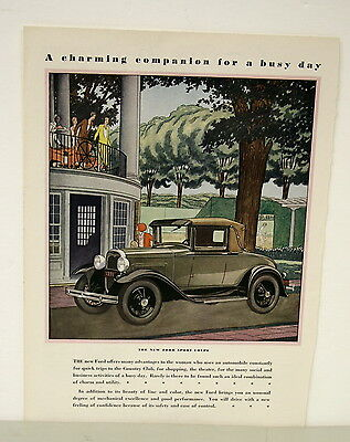 June 1930 Ford Motor Co. Ad - A Charming Companion for a Busy Day