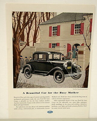 March 1931 Ford Motor Co. Ad - A Beautiful Car for the Busy Mother