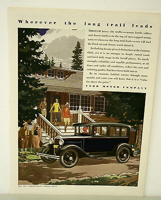 July 1930 Ford Motor Co. Ad - Wherever the Long Trail Leads