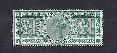GB67) GB 1891 £1 Green Queen Victoria SG 212, mint lightly hinged