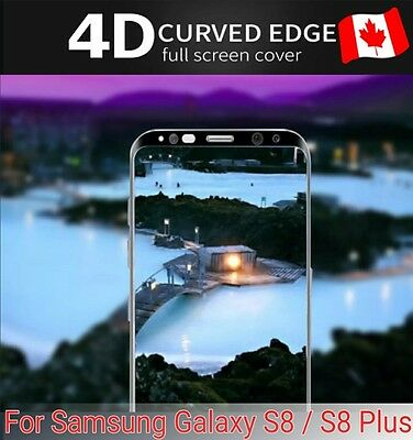 Full Curved 4D Tempered Glass Screen Protector For Samsung Galaxy S8 / S8 Plus