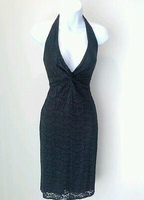 Vintage Laundry by Shelli Segal Women's Little Black Lace Dress size S Small