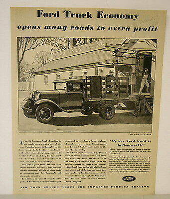 Nov. 1931 Ford Truck Ad from Hoard's Dairyman Magazine