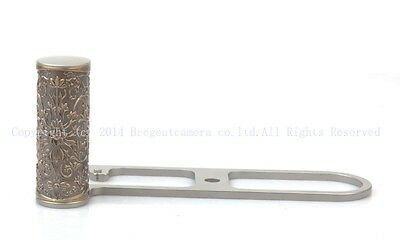 New brass curly grass-pattern steel hand grip for Leica M9 M9P Monochrome ME