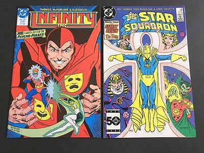 All Star Squadron #47 & Infinity Inc #32 EARLY TODD MCFARLANE - Dr. Fate KEY NM