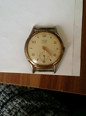Vintage fond acier inoxydable swiss made