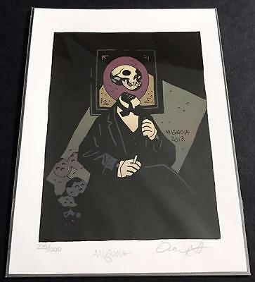 SKELETON HEAD Print RARE SOLD OUT 2014 NUMBERED SIGNED MIGNOLA PRINT NM