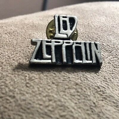 Vintage Led Zeppelin pewter metal concert pin button - classic rock