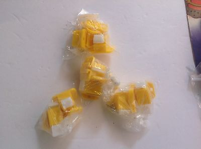 8 Pieces Plastic Prototype Test Fixture Jig Yellow White for PCB Board