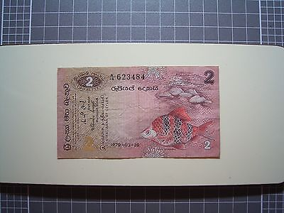 Ceylon 1979-03-26 ... 2 Rupees Bank Note...Good used note