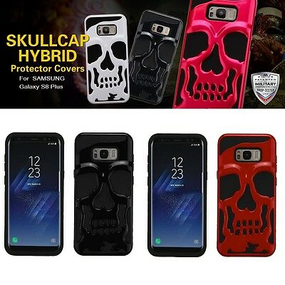 Samsung Galaxy S8 Plus + Ghastly Skull Gothic Design Phone Cover Protector Case