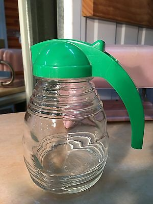 Vintage Large English Glass & Bakelite Kitchenalia Honey Pourer Jar