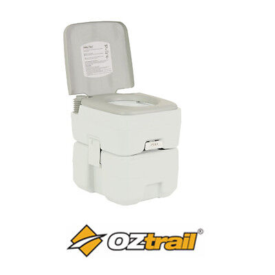 20L Portable Camping Toilet Oztrail Twin Flush Camp Toilets 20 Litre BRAND NEW