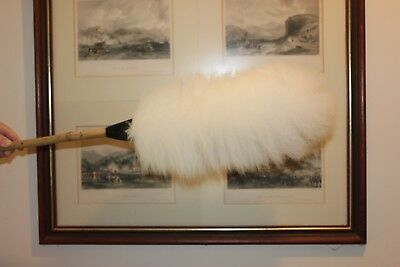 Two ( 2 ) lambswool dusters 60cm bamboo handle like the old school duster