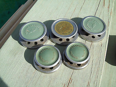 Vintage Marine Record 500 Spools X 5 Fishing Reel Collect Made In Switzerland