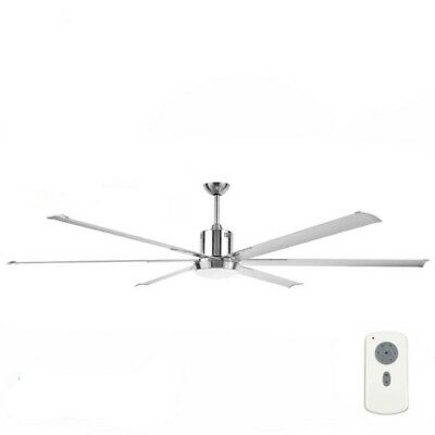 Maelstrom Extra Large Industrial DC Ceiling Fan With Light by Brilliant – 84″