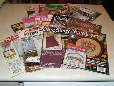 Assorted Embroidery and Cross Stitch Magazines x 14