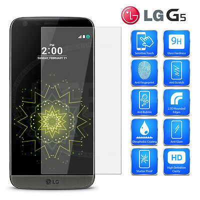 HIGH QUALITY TEMPERED GLASS SCREEN PROTECTOR FOR LG G5 Ship From CANADA