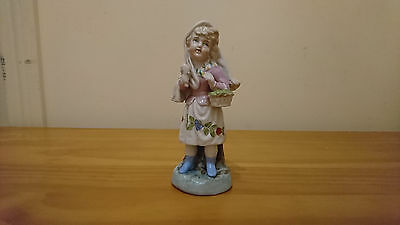 Antique   Porcelain Figure Of A Young Girl