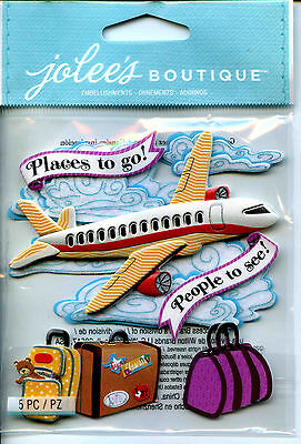 "Jolee's Boutique ""AIRPLANE"" Dimensional Scrapbooking Stickers - F40"