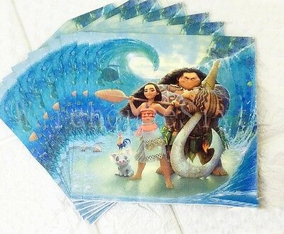MOANA Napkins.20 pack. Birthday Party tableware supplies.AU STOCK Fast Post