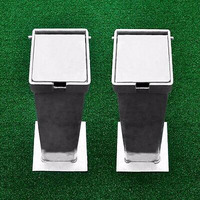 Steel Flip Top Lid Ground Sockets - For 76mm Square Tennis Posts