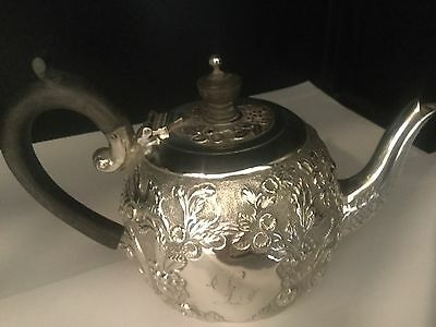 antique sterling silver bachelor tea pot London by  Wakely and Wheeler