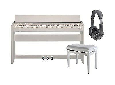 ROLAND F140R WH Pianoforte Digitale 88 Tasti Satin White con Mobile / Cuffie Mon