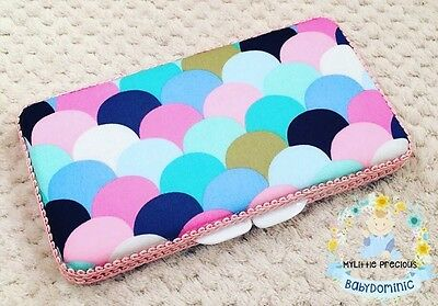 Scallops Rainbow Wipes Small Travel Case. Wipes Case Wipes Cover Case