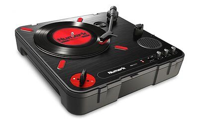 Numark PT01 SCRATCH Battery Operated Portable Turntable w/USB & Built in Speaker