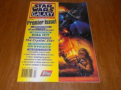 Star Wars GALAXY magazine #1 PREMIERE ISSUE - BOBA FETT POSTER INTACT - MUST SEE
