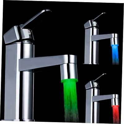 Novelty 7 Color RGB Colorful LED Light Water Glow Faucet Tap Head WELS k^