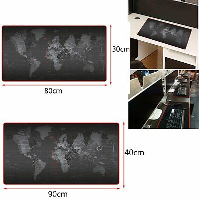 900*400*2MM World Map Anti-Slip Computer Rubber Game Mouse Pad Mat Large XL k^