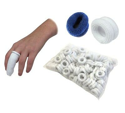 Qualicare Finger Bob Tubular Bandages - Blue or White - Pre-Rolled Fingerbob