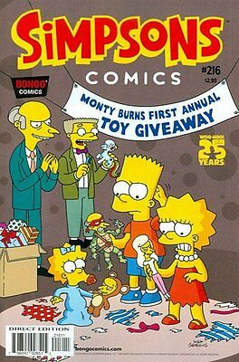 Simpsons Comics # 216 Near Mint (NM) Bongo Comics MODERN AGE