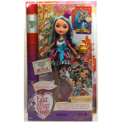 Ever After High - Madeline Hatter Doll Mattel BBD43 CE Marked 6 Yrs+ NEW