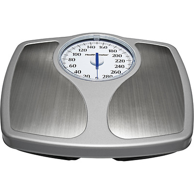 Bathroom Weight Scale Stainless Steel Analog Body Scale Speedometer Dial 330lb