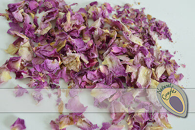 Dried Pale Pink and Cream Rose Petals - suitable for wedding confetti - biodegra