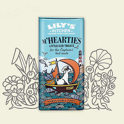 Lily's Kitchen M'Hearties Little Cod Treats for Dogs & Cats 34g - Packs 1,3 or 6
