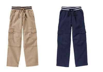 NWT Gymboree Boys Pull on Cargo Pants 4 5 6 8 10 12 Everyday All Star