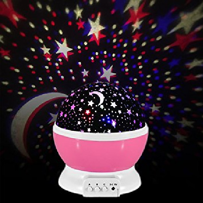 EasyGlow Mulitfunction Baby Nightlight Starry Sky Night Light Projector PINK