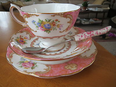 Royal Albert Lady Carlyle Tea Cup/saucer/plate/floral Spoon Mint Unused